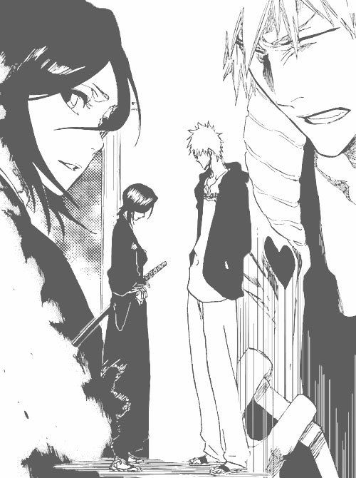 When he found out he'd never be able to ever see her again. It was such a painful goodbye. Ichigo and Rukia ... Bleach