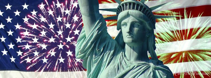July 4th – Flag, Fireworks, Lady Liberty on http://www.covermytimeline.com