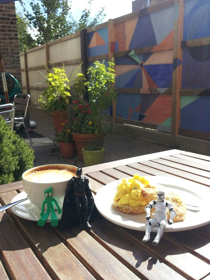 Batman U0026 Gumby Meeting Somebody New U2014 At The Grind Cafe Patio