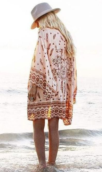 Sheer western boho inspo! Grab this colorful Kimono and enjoy your day full of spirit! Check out both colors. Made with chiffon.