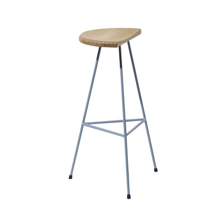 discover the scp max bar stool in oak with dark grey frame at amara