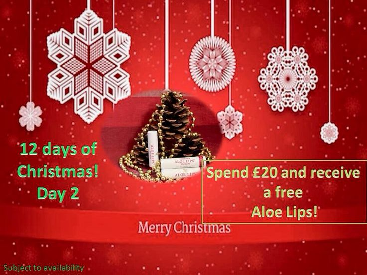 Day 2: Spend 20 pounds and get free Aloe Lips: Get kissable lips with this rich and nourishing pocket-sized lip balm. Soothe and moisturise dry lips with the conditioning ingredients of aloe, jojoba and beeswax. Great to protect lips all-year round.