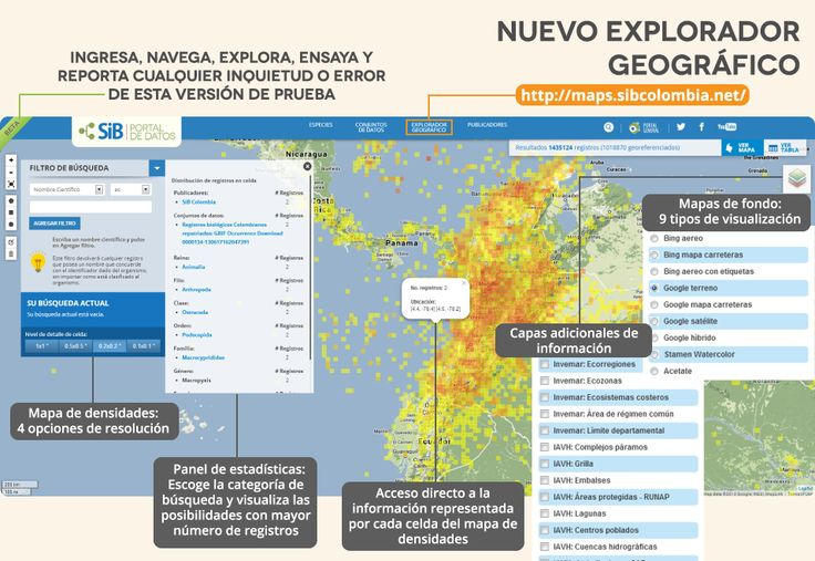 Nuevo explorador geográfico (versión Beta) del portal de datos