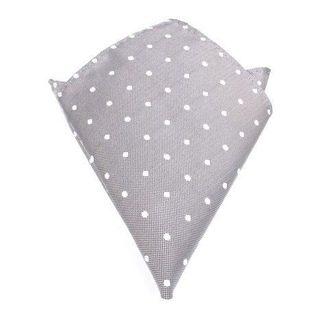 Pocket Square / Handkerchief by OTAA - The fabric is designed with white spread out polka dots upon a canvas of grey which complements each other resulting in a distinguished contemporary look. Purchase Pocket Squares from www.otaa.com.au | Shipping World Wide  | Only $15 AUD