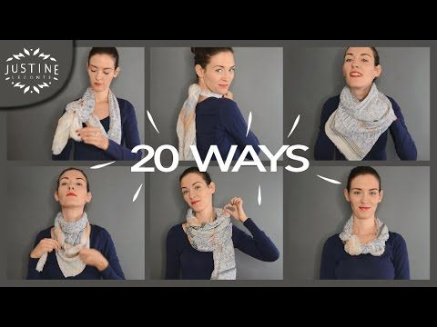 (46) 20 ways to wear a scarf & what they're good for | Justine Leconte - YouTube