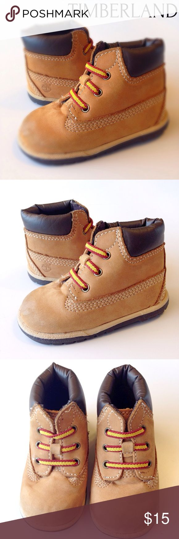 Infant Timberland Boots Size 3 Slight darkening on toes. See pics.  Otherwise in excellent condition! Timberland Shoes Boots