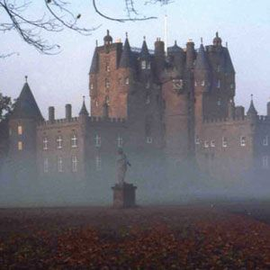 GLAMIS CASTLE ~ Angus, Scotland - this famously haunted 14th-century castle has too many known spirits to mention, but here are a few - a secret room was discovered where a horribly disfigured child was locked up inside of for his entire life - he was born to the 11th Earl of Glamis - this secret room was also the site of an alleged card game with the devil and other occult activities ~ the spirit of Lady Janet Douglas, who was burned alive as a witch in 1537, is still seen often here