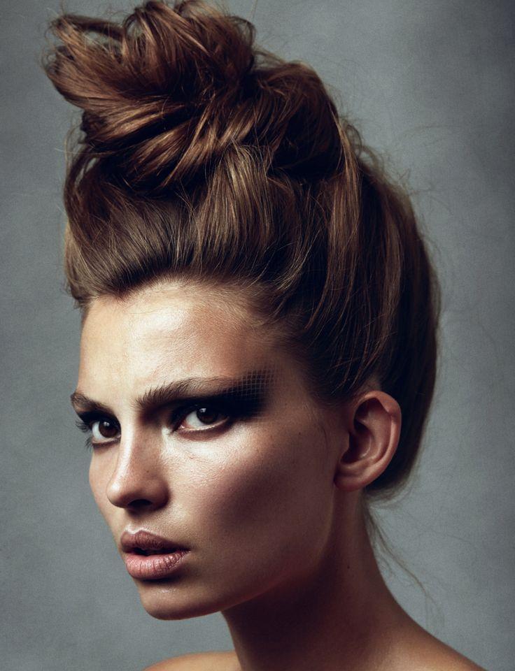 Piled up plaited chignon by Erika Svedjevik | Hair ...