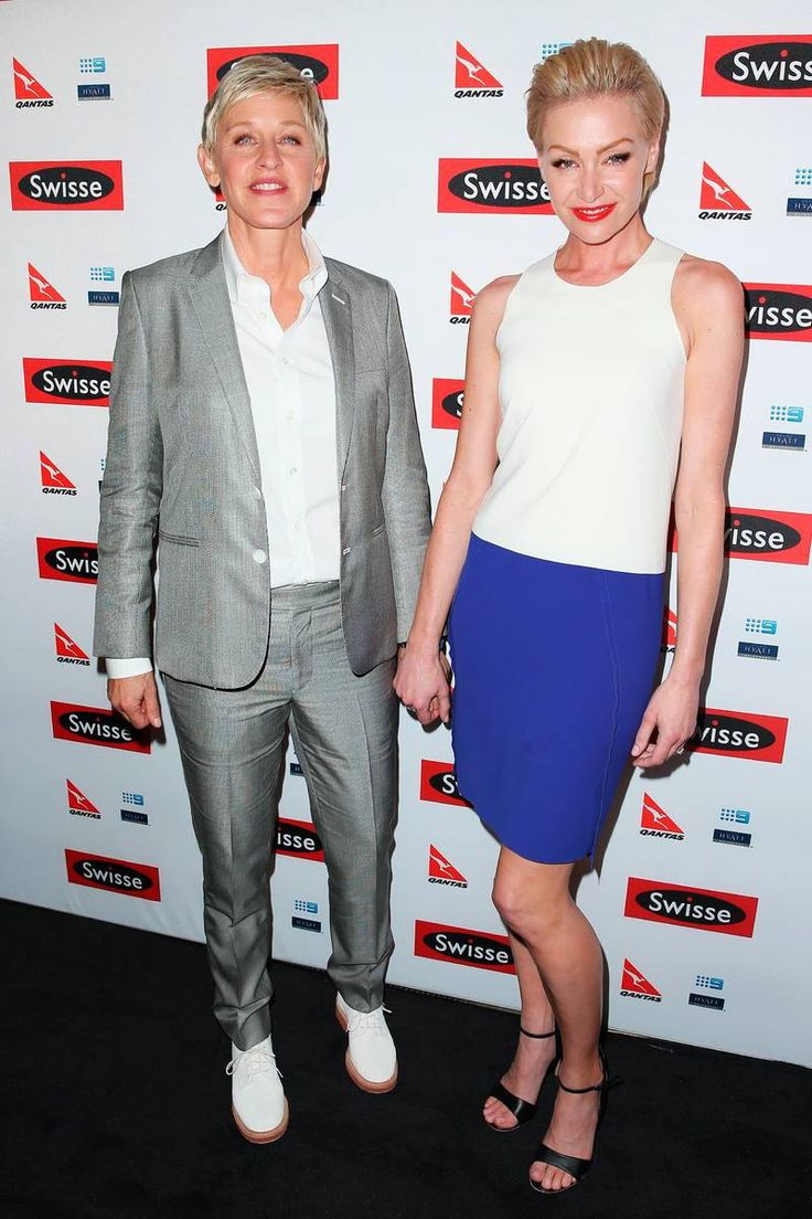 MELBOURNE, AUSTRALIA - MARCH 26:  TV personality, Ellen DeGeneres and her wife Portia de Rossi arrive at a Ellen DeGeneres Welcome Party on March 26, 2013 in Melbourne, Australia. Ellen DeGeneres is in Australia to film segments for her TV show, Ellen.  (Photo by Scott Barbour/Getty Images)