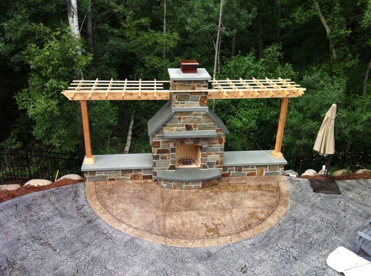 Betonbecken, Beton Kunst, Stampfbeton, Dekorativer Beton, Pool Terrasse,  Outdoor Kamine, Umgebung