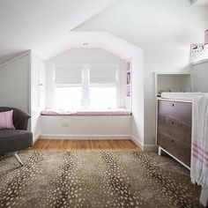 Attic Nursery Design, Contemporary, Nursery, Claire Zinnecker Design stark antelope rug