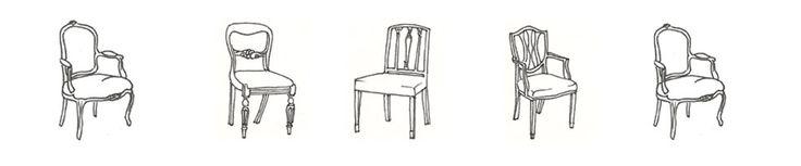M s de 25 ideas incre bles sobre sillas antiguas en for Sillas para dibujar