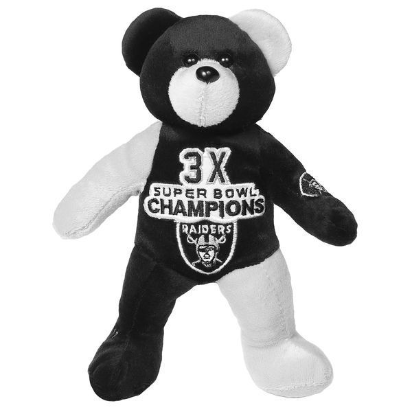 Oakland Raiders 3-Time Super Bowl Champions Commemorative Thematic Plush Bear | JCPenney - Sports Fan Shop