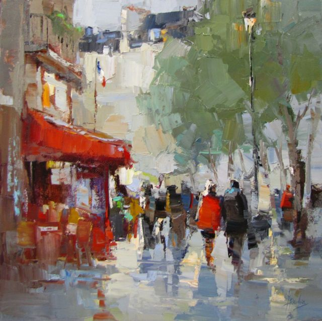 Red Cafe In Paris Impressionist Paintings Painting