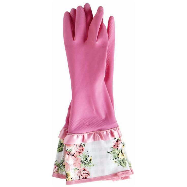Jessie Steele Rubber Gloves Gingham Floral JS802JS219
