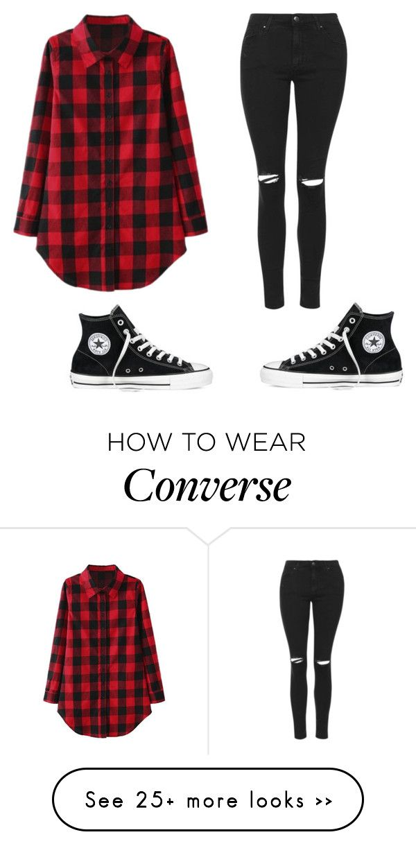 """""""Untitled #990"""" by kiky-miskovic on Polyvore featuring Topshop and Converse"""