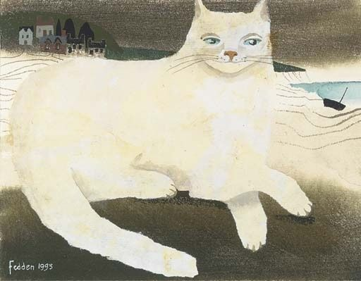 Cat Along the Shore, Mary Fedden