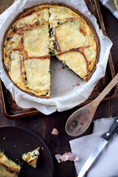 Quiche aux épinards et au fromage à raclette