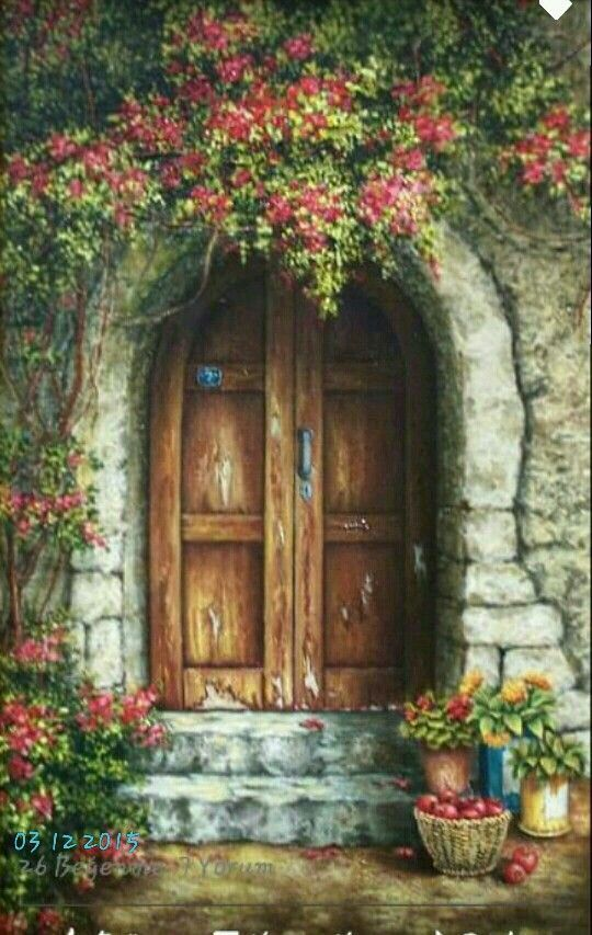Welcome To The Sunny Mediterranean! & 109 best Art Painting Doors Windows images on Pinterest | Painting ...