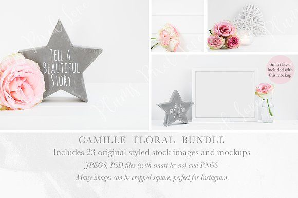 Camille Floral Stock Bundle by Plums Pixel Love on @creativemarket