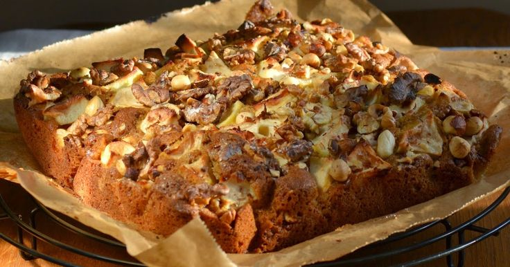 Appel-notencake met kaneel - makkelijke cake met de smaak van appeltaart