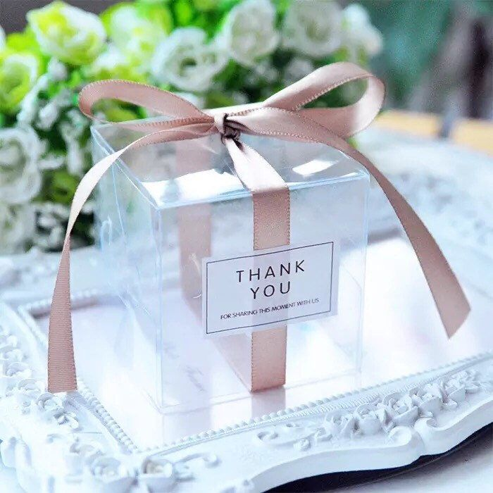 Pack Of 50 Matte Or Clear Pvc Wedding Favor Boxes With Etsy Baby Shower Thank You Gifts Wedding Favor Boxes Clear Favor Boxes