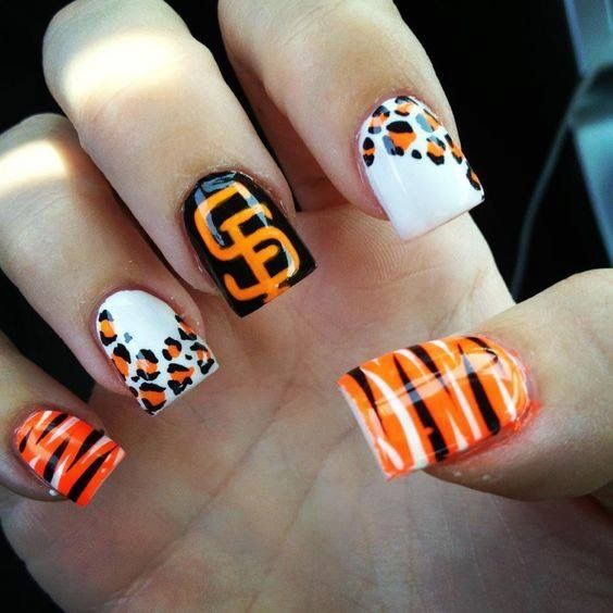 7 best Giants images on Pinterest | Baseball nails, Sf giants nails ...