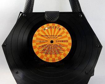 Articles similaires à Vinyl Record sac à main / sac à main / sac / Retro / Vintage / un brelan sur Etsy