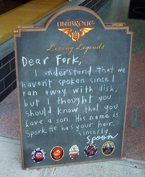 Dear Fork...Funny Billboard, Laugh, Funny Stories, Plain Funny, Spork, Dear Forks, Children, Funny Stuff, Giggles