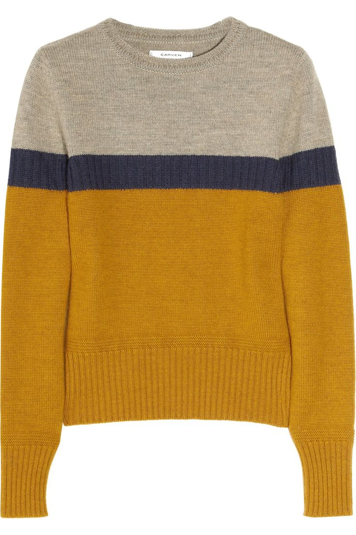 CARVEN  Color-block wool sweater