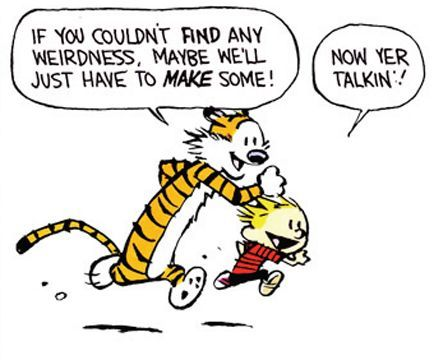Calvin and Hobbes - make your own weirdness!