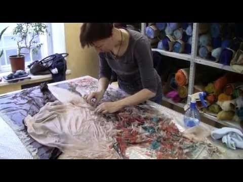 Валяем тунику с Ниной Демидовой. Мастер-класс в студии Felt4Fun - YouTube