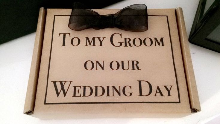 Groom Gift Box - Husband to be Wedding Morning Present - Personalised message by HarlieLoves on Etsy