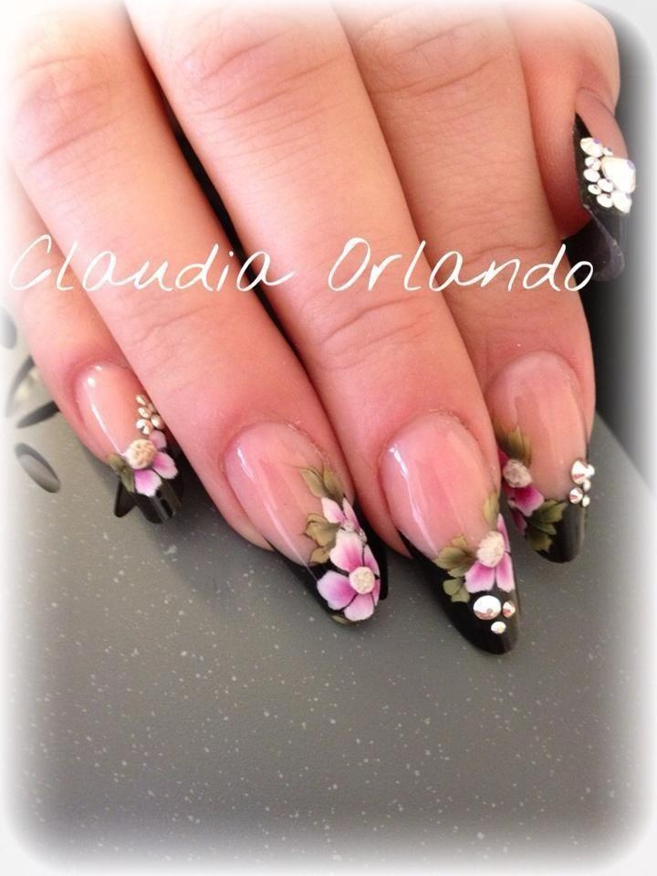 91 best Nails - Floral Painting images on Pinterest | Nail scissors ...