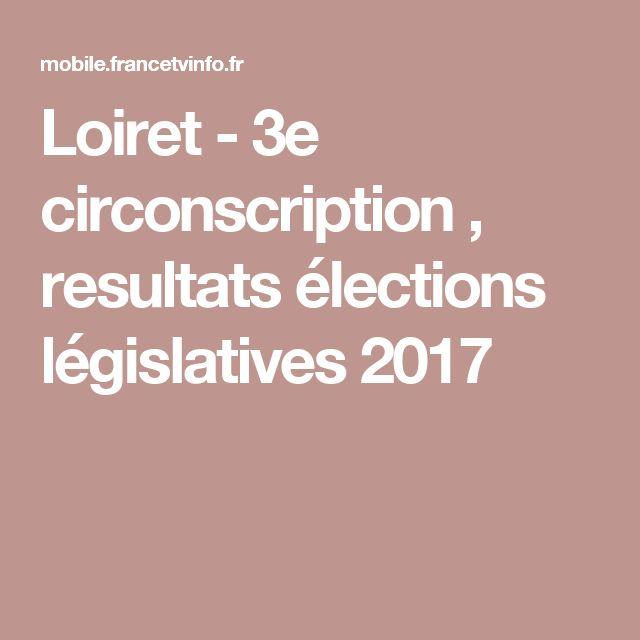 Loiret  - 3e circonscription , resultats élections législatives 2017