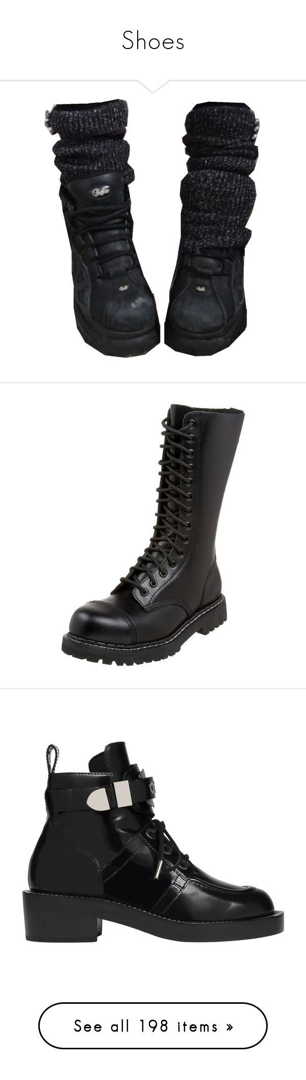 """""""Shoes"""" by avintagemystery ❤ liked on Polyvore featuring shoes, boots, footwear, safety toe shoes, stitch shoes, steel toe boots, steel toe shoes, chunky-heel boots, ankle booties and black"""