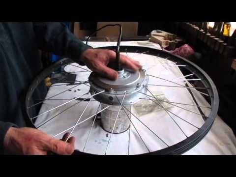 Wheel lacing a hub motor