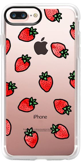 Casetify iPhone 7 Plus Case and other Strawberry iPhone Covers - Strawberries by Kailey Flyte | Casetify