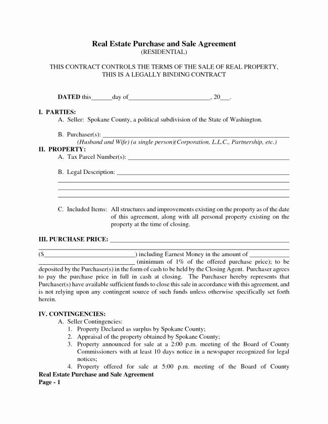 30 Real Estate Contract Template Real Estate Contract