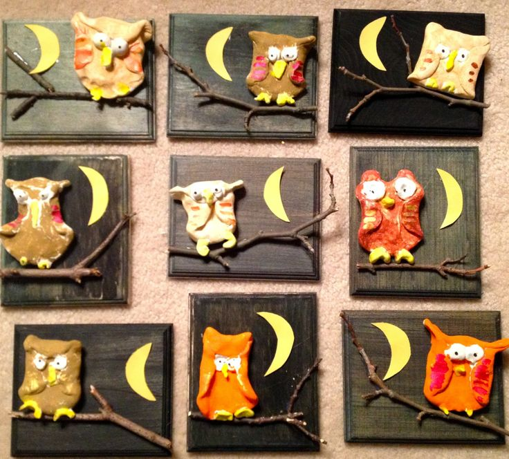 More 1st Grade Clay Owls-Painted Wood-Fall Artwork-Art with Mr. Giannetto Blog