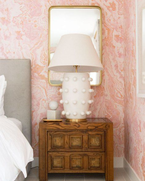 Sarah Sherman Samuel Guest Suite: Featuring Kelly Wearstler lamps at Kelly Golightly's Palm Springs home.