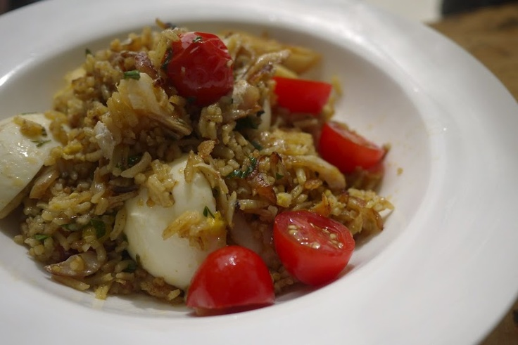 Kedgeree, another popular dish in the UK, made of smoked Haddock and curry rice.