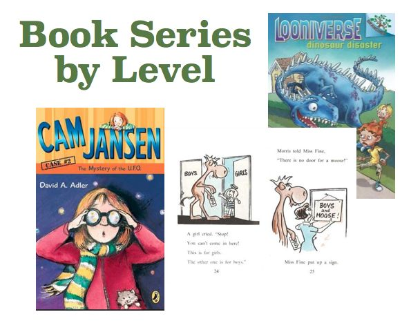 I use Fountas & Pinnell Guided Reading levels to organize these book series. If you know your child's level in another system (DRA, Reading A-Z) here is a good correlation chart. Book Series by Level Level E Morris the Moose series Levels F & G (1st) Biscuit series / Rylant Are You Ready to Play …