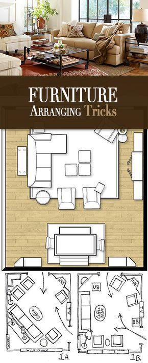 Furniture Arranging Tricks • Easy tricks and layout ideas for arranging your furniture!