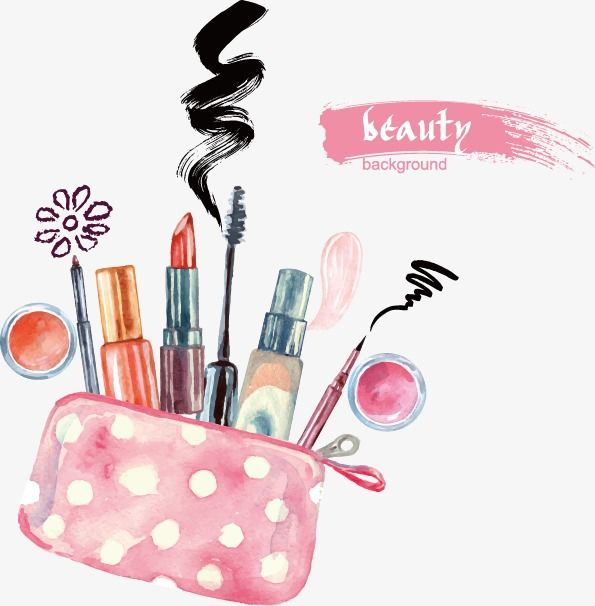 3f2ab15e5ee Cartoon,Vector,illustration,Cosmetic,Lipstick,eyebrow pencil,hand-painted  vector,cosmetics vector