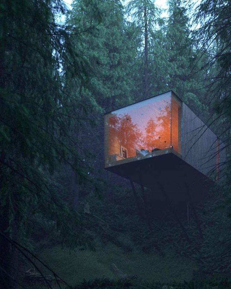 """Konzeptgespräch auf Instagram: Waldhotel """"Revugia"""" von Matthias Arndt. Keim…"""