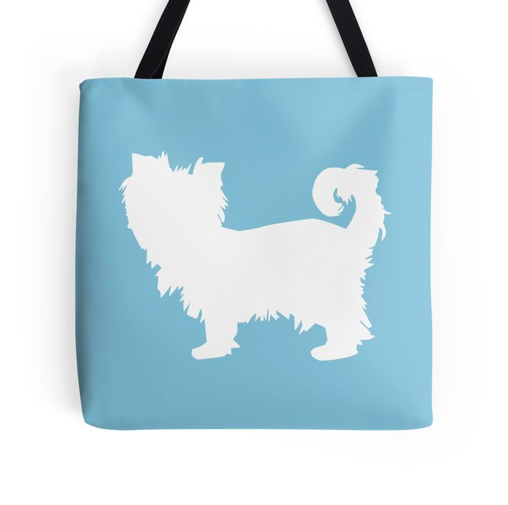Yorkie Terrier - White Silhouette by OutlineArt