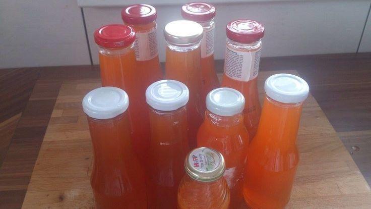 Imunita, domácí výroba šípkového sirupu.