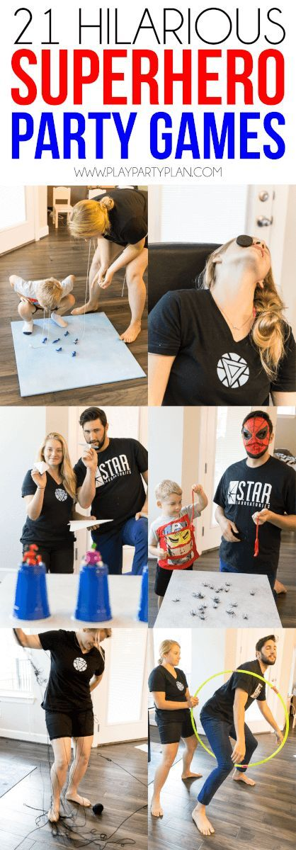 These superhero minute to win it games are the absolute best superhero party games for kids or for adults! Even my toddler loved playing games inspired by his Marvel favorites! Some use food, some are games you DIY, and some even include an obstacle cours