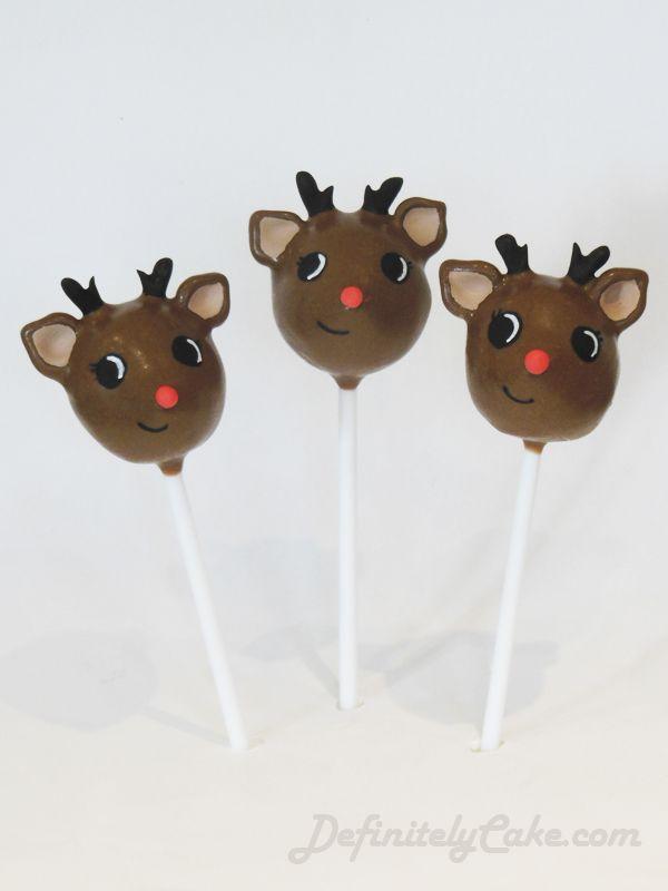 Baby Reindeer Cake Pops     Found on definitelycake.com  #Christmas, #Brown, #Holiday